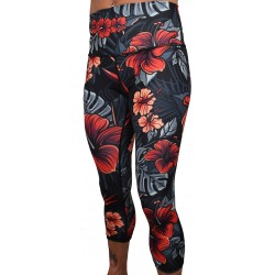 Workout 3/4 high waist multicolor FIREBISCUS legging| PROJECT X