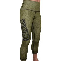 Legging 3/4 taille haute femme TIKI vert| PROJECT X
