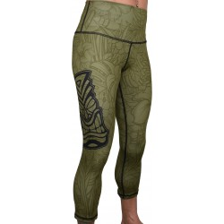 Training legging 3/4 high waist green TIKI| PROJECT X