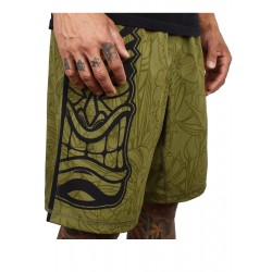 Training short HYBRID green TIKI for men | PROJECT X