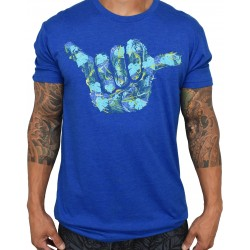 T-shirt blue ZAP SHAKA for men | PROJECT X