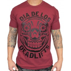 T-Shirt homme rouge DIA DE LOS DEADLIFT | PROJECT X