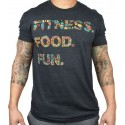 T-shirt grey FITNESS. FOOD. FUN. for men | PROJECT X