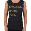Training muscle tank grey FITNESS. FOOD. FUN. for women | PROJECT X