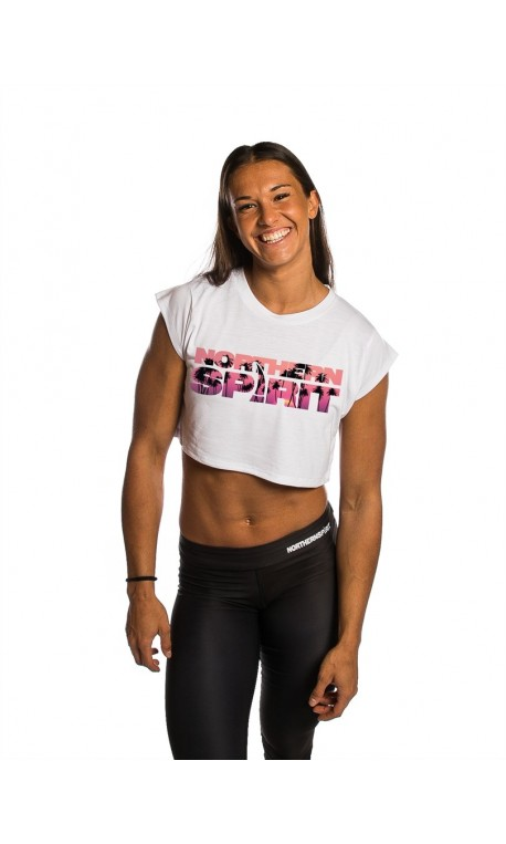 Training crop top white MIAMI NS for women | NORTHERN SPIRIT