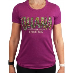 T-shirt OHANA OVER EVERYTHING magenta for women| PROJECT X