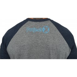 T-shirt 3/4 sleeves unisex blue / grey FEATS OF STRENGTH | PROJECT X