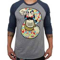 T-Shirt manches 3/4 unisexe gris/bleu FEATS OF STRENGTH| PROJECT X