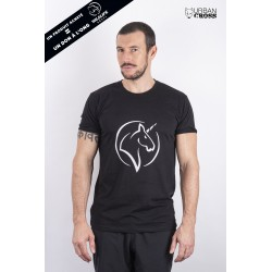 T-Shirt Homme Noir LICORNE | URBAN CROSS