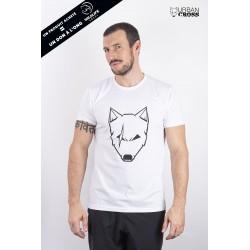 Training T-Shirt white SCARED WOLF for men | URBAN CROSS