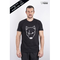 Training T-Shirt black SCARED WOLF white for men   URBAN CROSS
