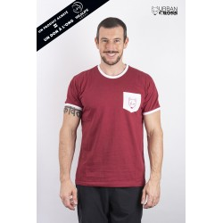 Training t-shirt red white pocket SCARED WOLF | URBAN CROSS