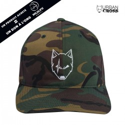 Green Camo SCARED WOLF cap | URBAN CROSS