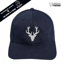 Navy blue POLYGON DEER cap | URBAN CROSS