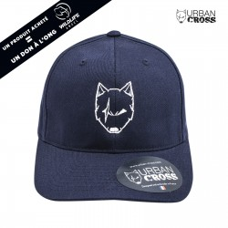 Navy blue SCARED WOLF cap | URBAN CROSS