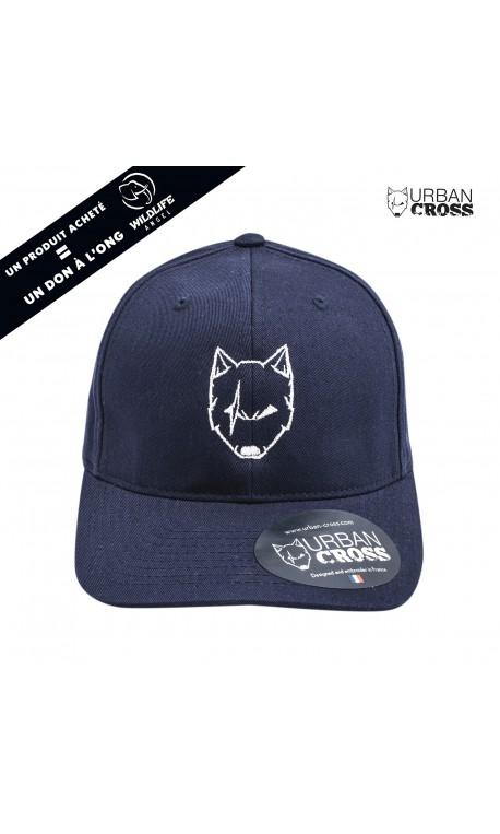 Navy blue SCARED WOLF cap | URBAN CROSS