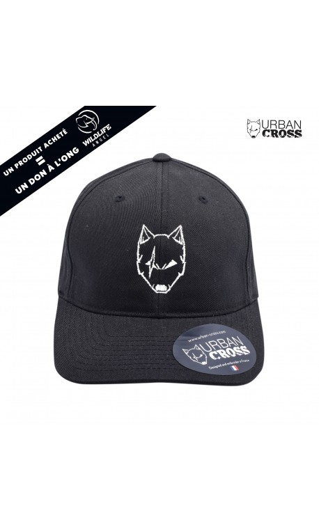 Black SCARED WOLF cap | URBAN CROSS
