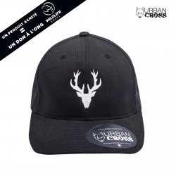 Black POLYGON DEER cap | URBAN CROSS