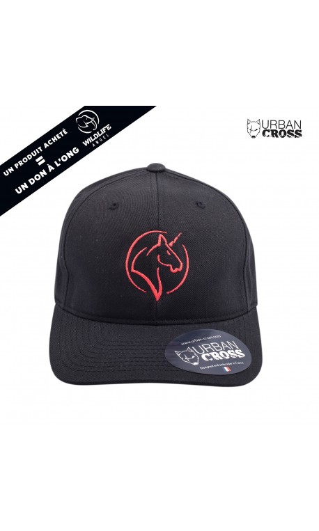 Black UNICORN pink cap | URBAN CROSS