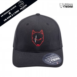 Black SCARED WOLF red cap | URBAN CROSS