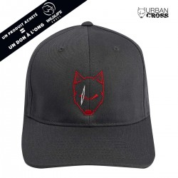 Charcoal  SCARED WOLF red cap | URBAN CROSS