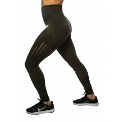 Training legging green high waist SEAMLESS for women | NORTHERN SPIRIT
