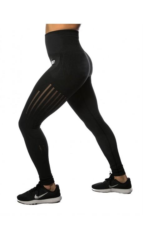 Training legging dark grey high waist SEAMLESS for women | NORTHERN SPIRIT