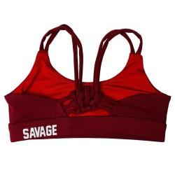 Training bra BURGUNDY KNOTTY BACK for women | SAVAGE BARBELL