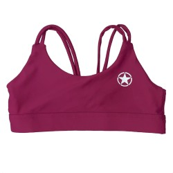 Brassière femme KNOTTY BACK DEEP RASPBERRY | SAVAGE BARBELL