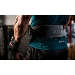 Leather Strength Belt Black 4 '' PADDED| HARBINGER