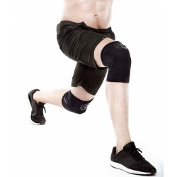 7 mm pair of Knee Sleeves Black and Carbon | REHBAND