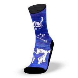 Chaussettes bleues VIKING pour athlète by LITHE APPAREL