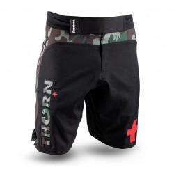 Short homme noir COMBAT TRAINING SHORTS CAMO| THORN FIT