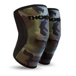 6 mm pair of Knee Sleeves green CAMO| THORN FIT