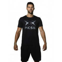 T-Shirt homme noir LOGO | PICSIL
