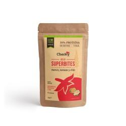 Sachet protéiné ECO SUPERBITES BOEUF, NOIX, TOMATE ET CHIA 30 Gr | CHERKY FOODS