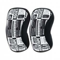5 mm pair of Knee Sleeves black & white MANIFESTO | ROCKTAPE