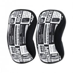 Paire Genouillères noir/blanc MANIFESTO 5 mm | ROCKTAPE