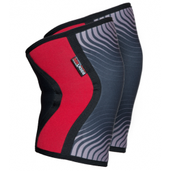 5 mm pair of Knee Sleeves RED stipes | ROCKTAPE