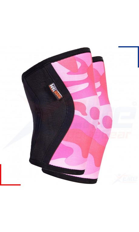 5 mm pair of Knee Sleeves PINK CAMO | ROCKTAPE