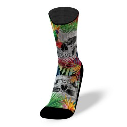 Chaussettes multicolores JUNGLE SKULL | LITHE APPAREL