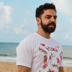 T-Shirt Homme blanc FLORAL ICON| PROGENEX