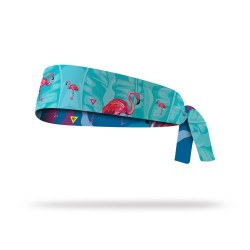 Reversible workout tie headband FLAMINGO| LITHE APPAREL
