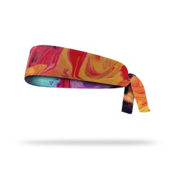 Reversible workout tie headband TEMPERA | LITHE APPAREL