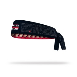 Reversible workout tie headband BELLA CIAO| LITHE APPAREL
