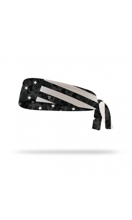 Workout tie headband STARS AND STRIPES| LITHE APPAREL