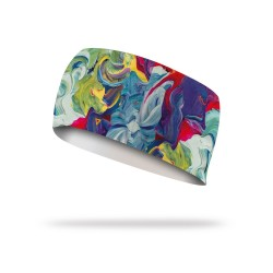 Bandeau élastique multicolor TEMPERA| LITHE APPAREL
