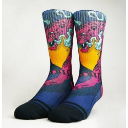 Chaussettes multicolor CRAZY TIGER X SKORP SOCKS | WODABLE