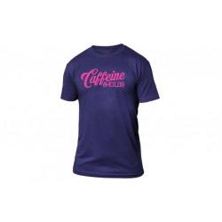 T-shirt Homme violet script logo T pour Athlète - CAFFEINE & KILOS