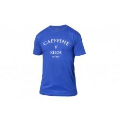 T-shirt blue Logo T for men - CAFFEINE AND KILOS
